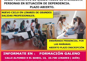 Ciclo Formativo de Grado Medio en Atención a Personas en Situación de Dependencia.