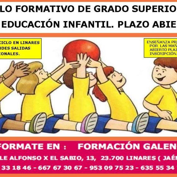 Ciclo Formativo de Grado Superior en Educación Infantil modalidad a distancia.