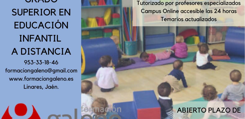 ULTIMAS PLAZAS CFGS EN TÉCNICO SUPERIOR EN EDUCACIÓN INFANTIL A DISTANCIA.