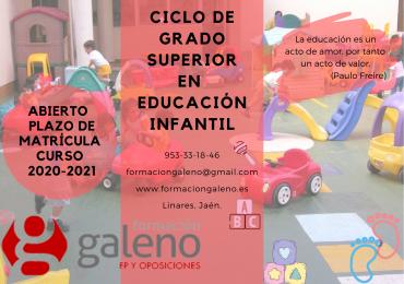 Ciclo Formativo de Grado Superior en Educación Infantil modalidad presencial.